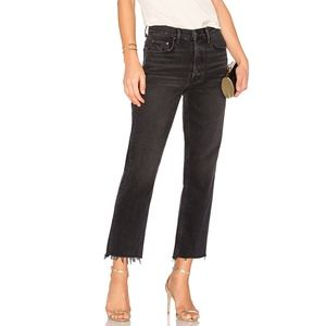 GRLFRND Helena High-Rise Straight Crop Jean Black